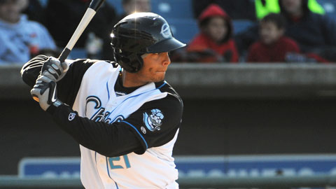 Carlos Rivero hit his first home run as a Chief.