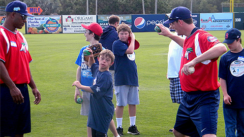 Fort Myers players have volunteered for the 'Special Needs Baseball Camp' since 2006.